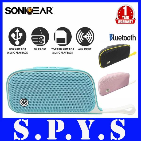 Sonic Gear P500 Moby Speakers. Bluetooth. Rechargeable and Portable. FM Radio. USB Input. Micro SD Memory Card Input. Aux Input. Super Compact size: 15cm x 8cm x 4cm. 1 Year Warranty. Singapore