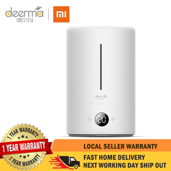 【1 Year Local Warranty】Xiaomi Deerma DEM-F628A Air Humidifier Ultrasonic 5L Quiet Aroma Mist Maker Led Touch Screen Timing Function Home Water Small Mini Diffuser Essential Oil Singapore