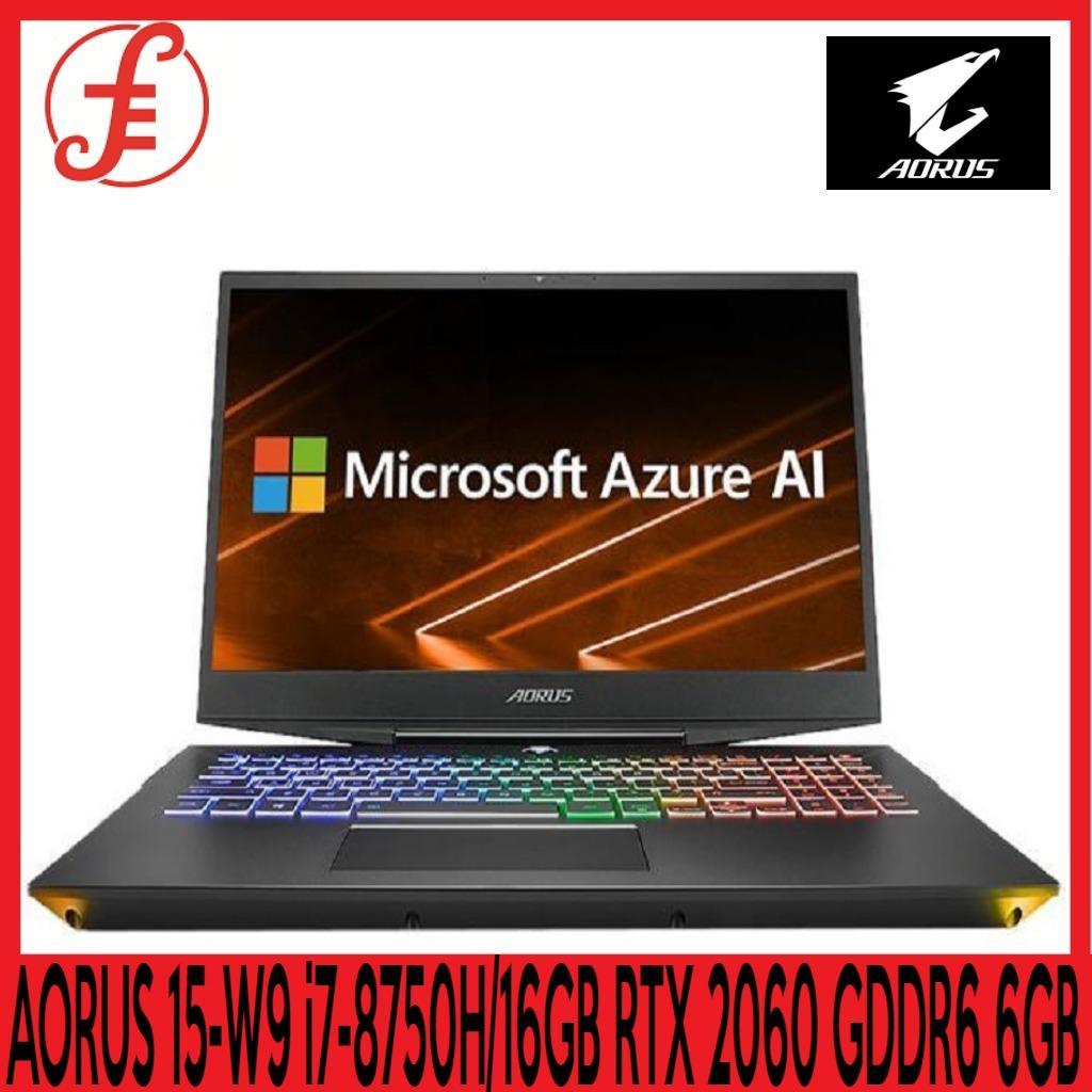 GIGABYTE AORUS 15-W9 FHD (i7-8750H/16GB SAMSUNG DDR4 2666 (8GB*2)/GeForce RTX 2060 GDDR6 6GB/512GB INTEL 760P PCIE SSD + 2TB 7,200rpm HDD/15.6 Thin Bezel LG FHD 144Hz IPS/WINDOWS 10 HOME (AORUS 15-W9)