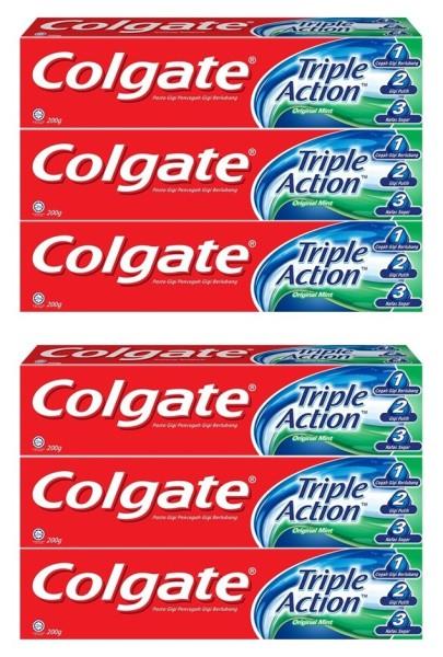 Buy COLGATE (Bundle of 6) Toothpaste [Triple Action 200g] Singapore