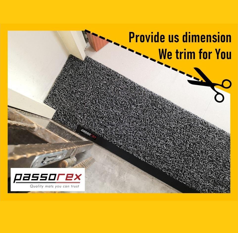 Passorex BTO HDB Door Gap Floor Mat 3.0   (Thick Mat) thickness T16mm+/-  Black/Grey