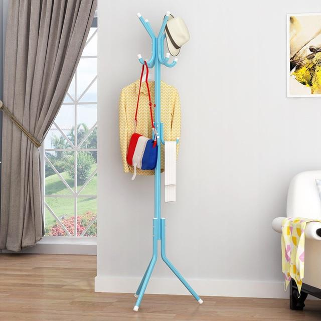 Coat Clothes Hanger Rack ,175cm Big 12 Hooks Hanging Pole - Floor Stand Tree Holder Organizer for Clothes Hat T-shirt Bags Jacket (Multiple colours)