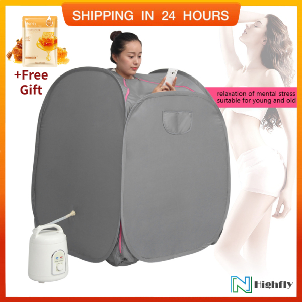 Buy [Free Gift]1.8L Sauna Steamer Portable Pot Machine Home Personal Spa Indoor Body Slimming Therapy (UK Plug) - intl Singapore