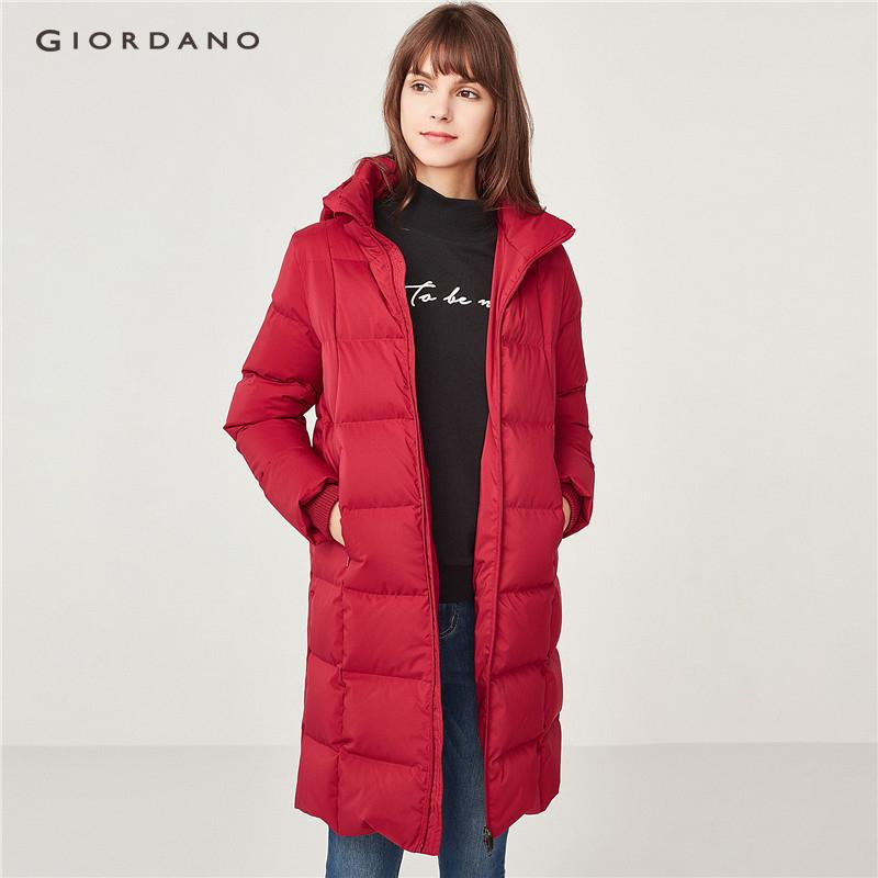 Giordano Women Detachable Mid-Long Grey Goose Down Jacket [free Shipping] 05378709 By Giordano Official.