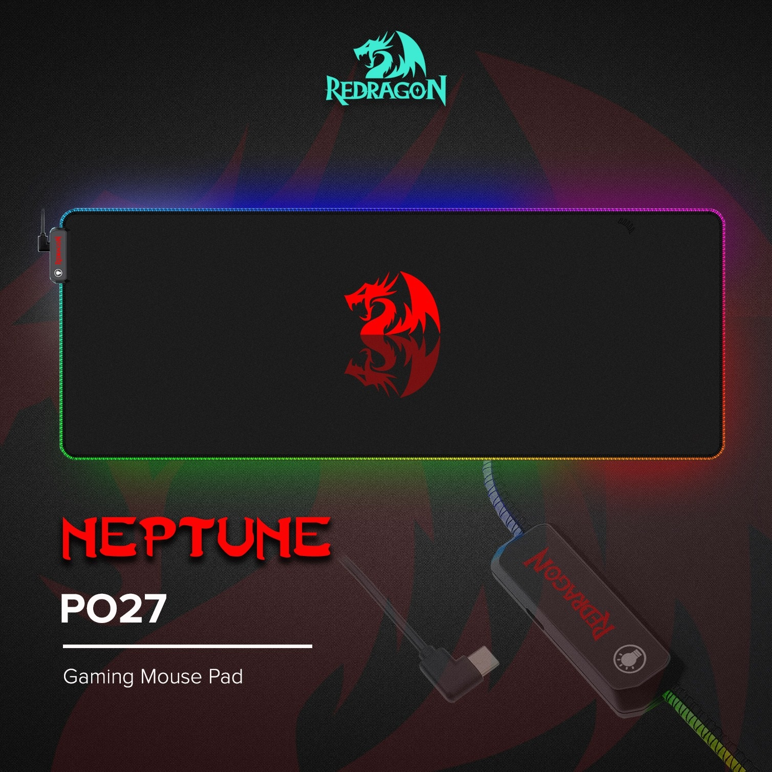 Redragon Neptune RGB P027 Soft Gaming Mouse Mat Singapore