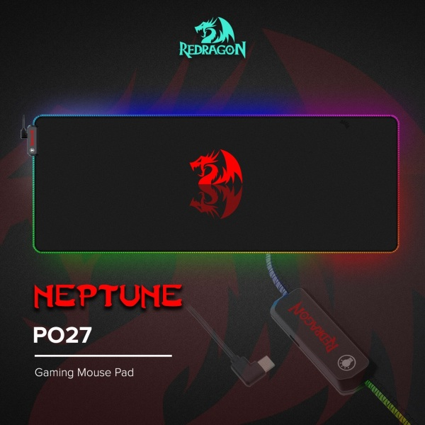 Redragon Neptune RGB P027 Soft Gaming Mouse Mat
