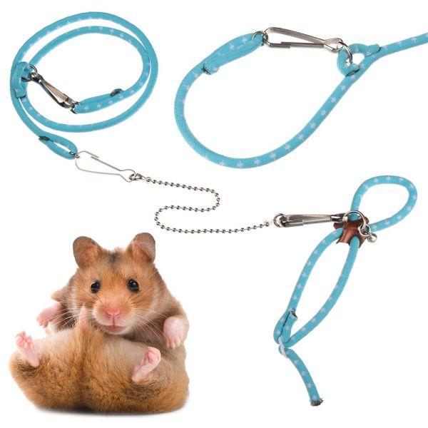 DOULI Bền đẹp Có thể điều chỉnh Phụ kiện cho thú cưng nhỏ Dây thừng cho lợn cưng Dây buộc chim Dây buộc chuột vẹt Chồn Rat Leash Dây buộc chuột hamster