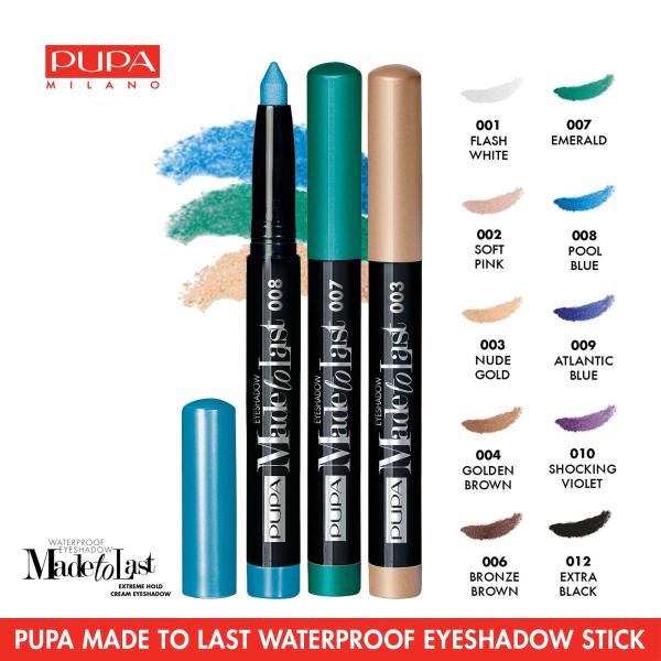 Buy PUPA MILANO Made To Last Waterproof Stick Eyeshadow, 1.4g Singapore