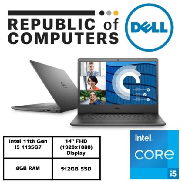 New 11th Gen (READY STOCK) New Vostro 14 3400- Intel® Core™ i5-1135G7/Windows 10 Pro/Intel® Iris® Xe Graphics/8GB RAM/512GB SSD/Accent Black