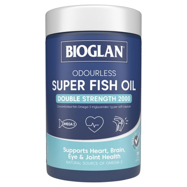 Buy Bioglan Super Odourless Fish Oil 2000mg 200 Capsules for Heart and Joint Health Singapore