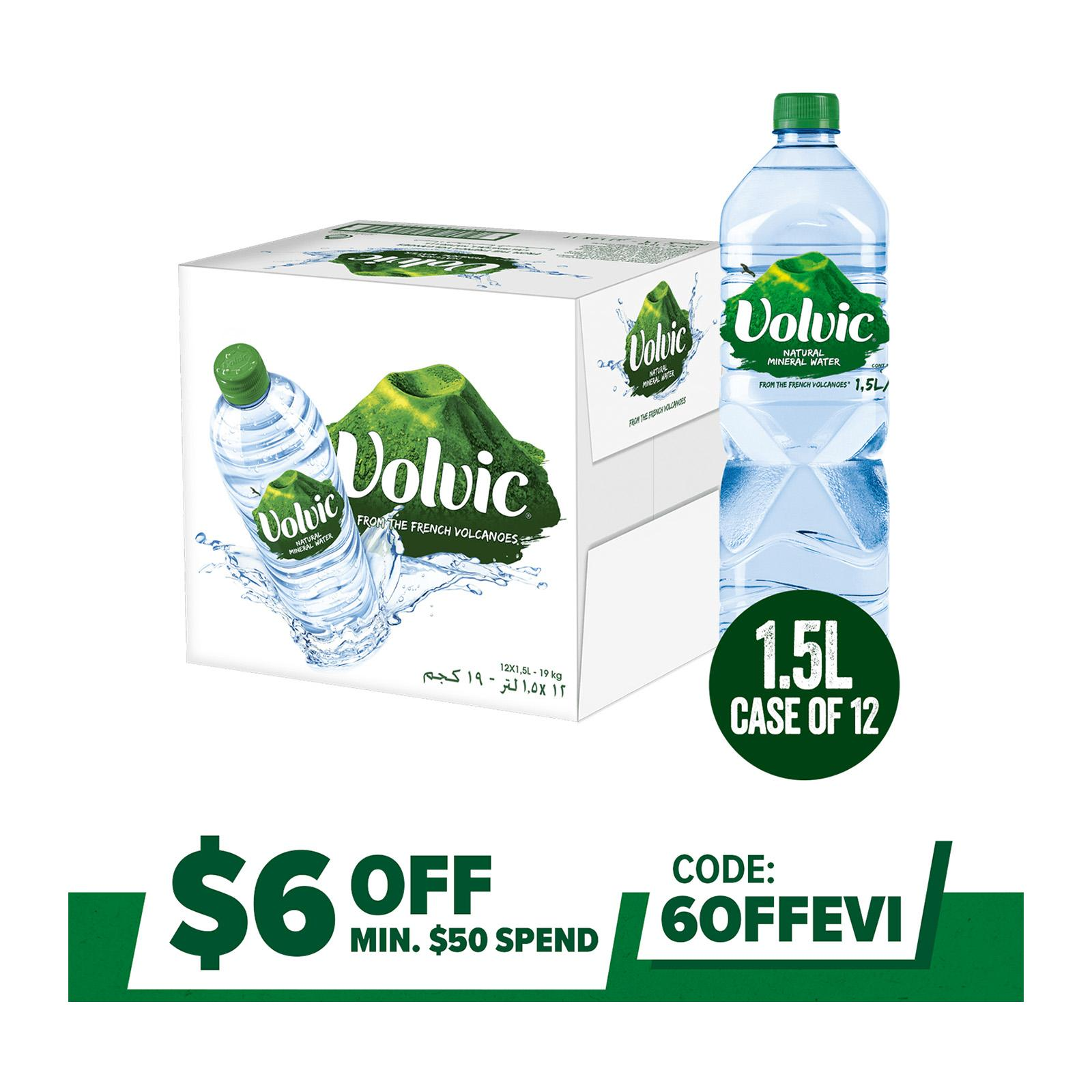 Volvic Natural Mineral Water Case