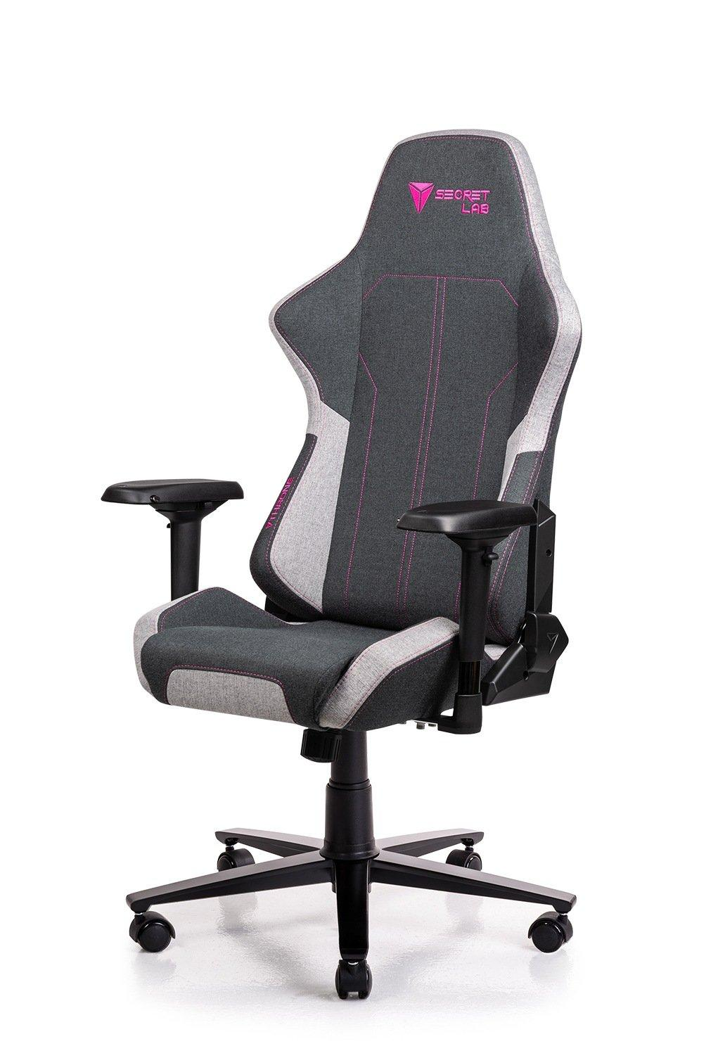 Secretlab THRONE 2018 Series Softweave Fabric Gaming Chair - Coal Pink