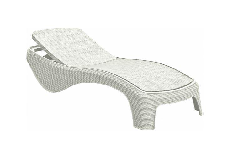 Allibert Atlantic Sun Lounger White