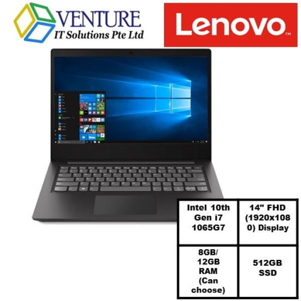 Lenovo IdeaPad S145 10th Gen Intel Core i7 1065G7/8GB OR 12GB DDR4 RAM/512GB SSD/Iris Plus Graphic/14Full HD 1920x1080/Window 10/1 year carrying in warranty