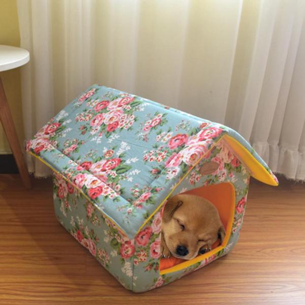Giường Thú Cưng Trong Nhà Di Động Nhà Cho Chó Ấm Áp Và Thoải Mái Mềm Chó Mèo Phòng Ngọt Ngào MW
