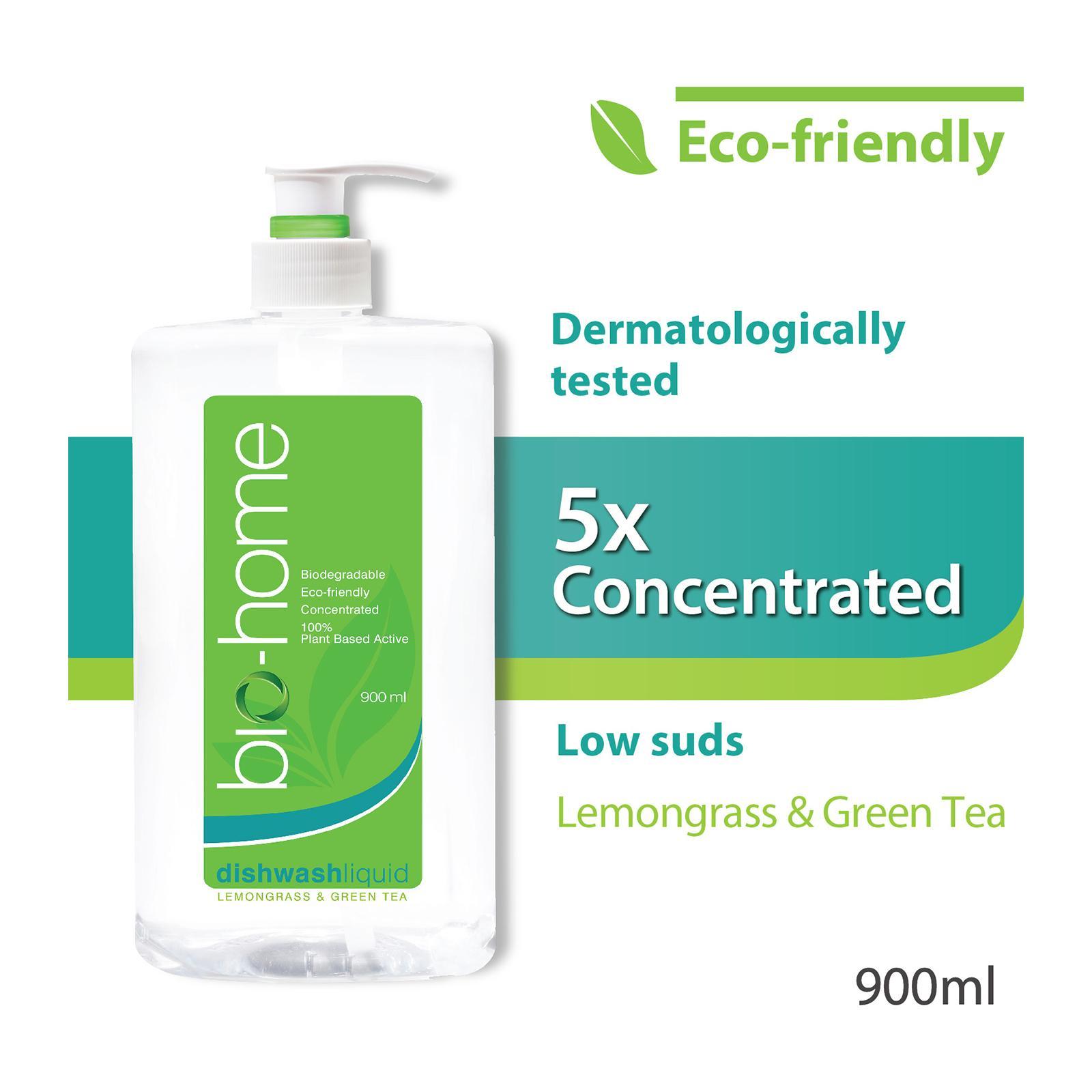 Bio-Home Lemongrass and Green Tea Dishwashing Liquid 900ml
