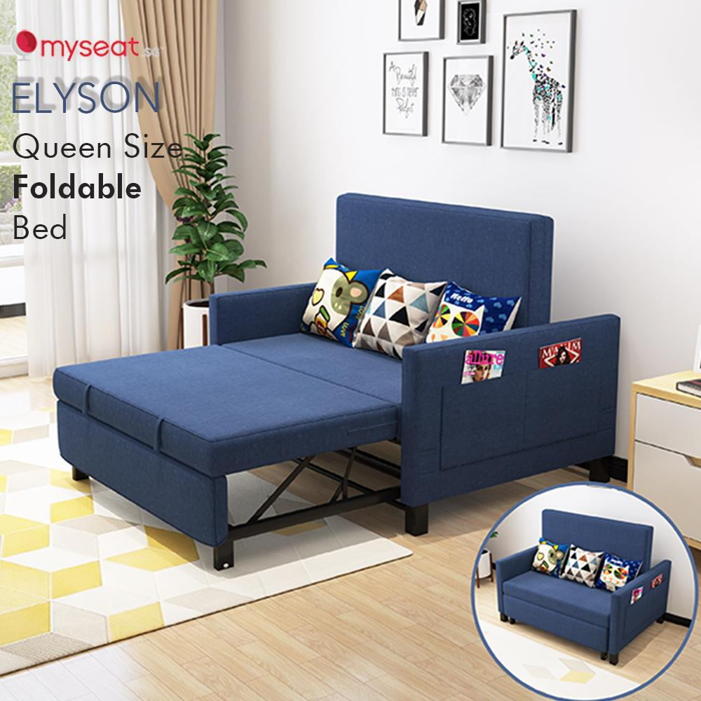 MYSEAT.sg ELYSON Queen Size Foldable Bed