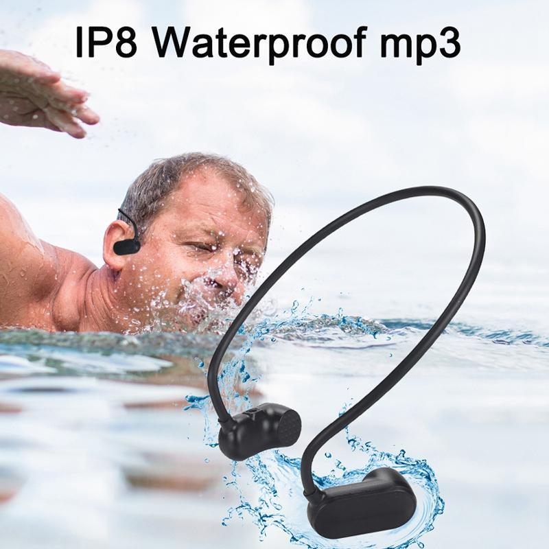 V31 Bone Conduction Waterproof Swimming Outdoor Sport Mp3 8G Hifi Mp3 Player Headset