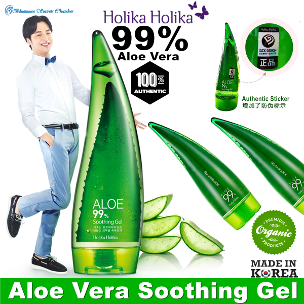 Buy Holika Aloe Vera 99% Soothing Gel 250ml with authentic sticker Singapore