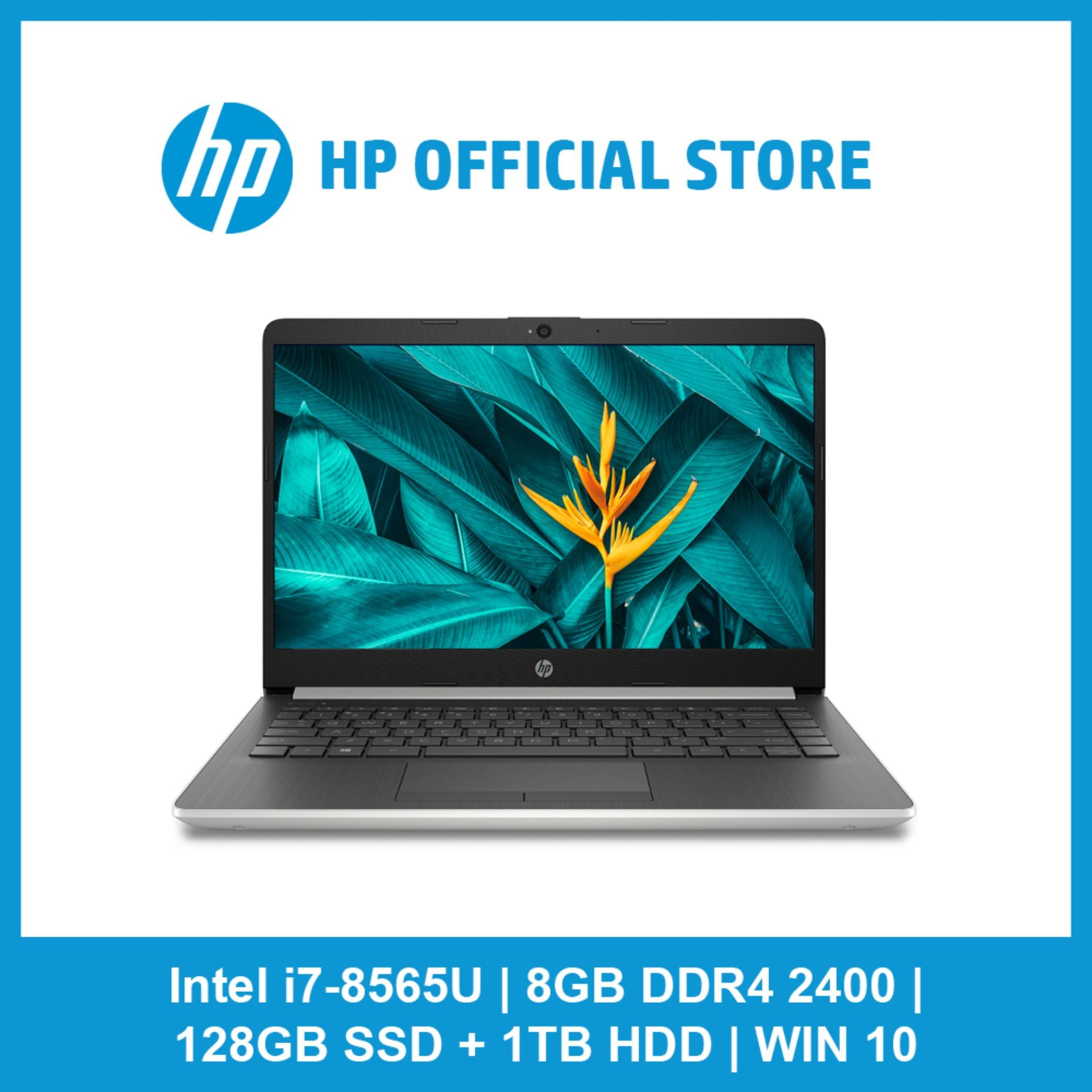 HP Notebook - 14s-cf1065tx/ Intel® Core™ i7 8565U/ 8 GB memory/ 1 TB HDD storage/ 128 GB SSD storage/ Win 10