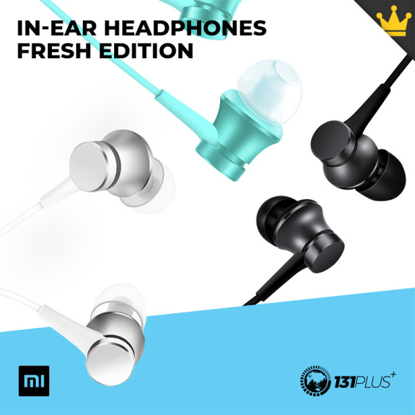 Xiaomi Mi In-Ear Headphones Fresh Edition [ HSEJ03JY / 3rd Gen TMD / Built-In Microphone / Piston / Single Button Control / Aluminium-Alloy Sound Cavity ] Singapore