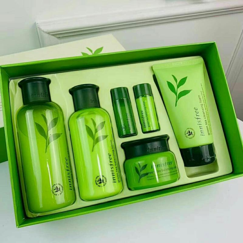 Buy Korea Innisfree Green Tea Balancing Special Skin Care Set (6 items) Singapore