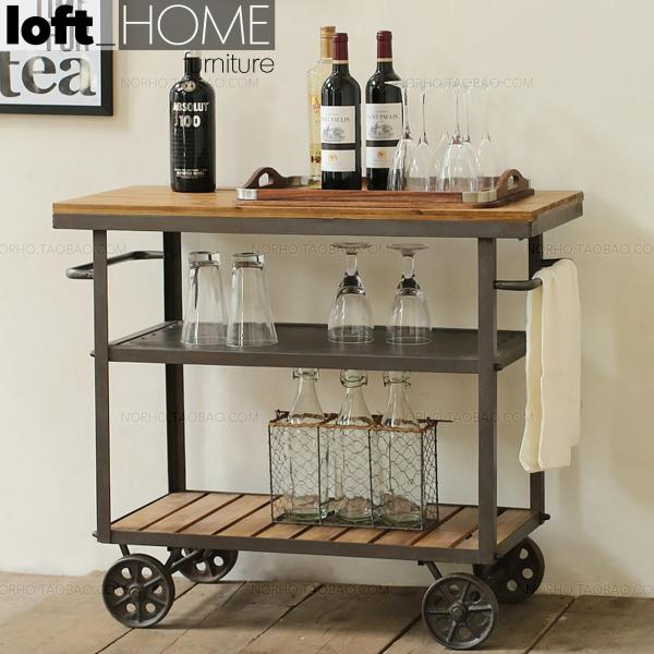 Drinks Trolley / Side Table – Classic