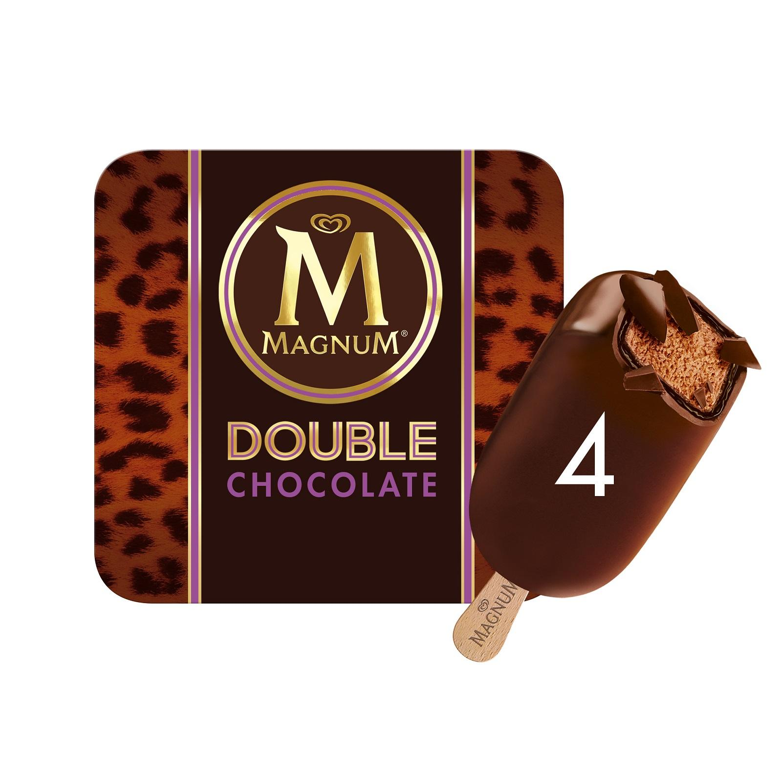 MAGNUM Stick Ice Cream - Double Chocolate 4sX88ml