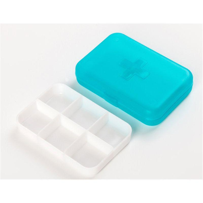 6 Slots Travel Pill Box Organizer (LLS1138) Singapore Seller + 100% Authentic.