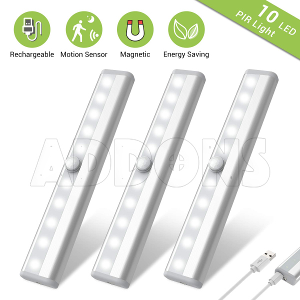 Wireless Motion Sensor LED Light with rechargeable Battery for kitchen and bed room