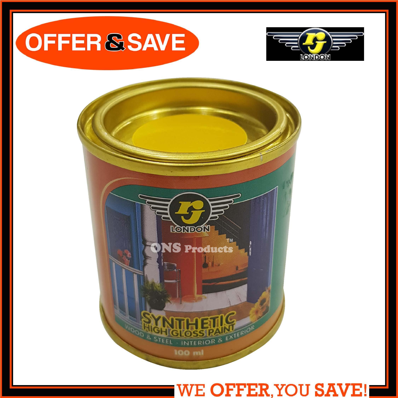 RJ LONDON Synthetic High Gloss Paint 100ml - Yellow