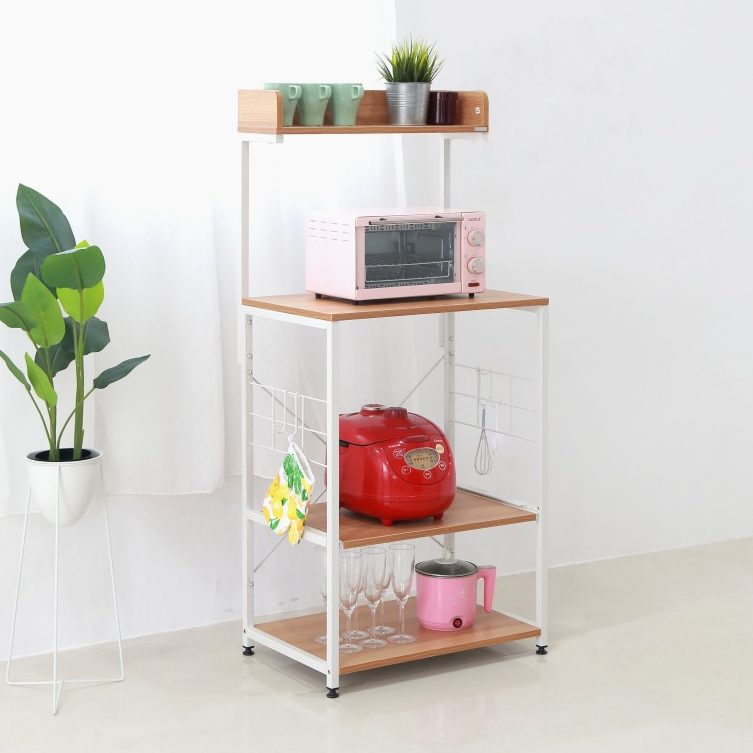 Microwave Table With Shelf
