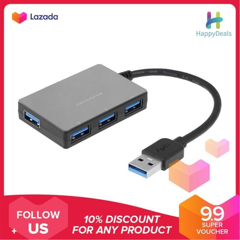{9.9 Hot Sale Festival}USB 3.0 HUB 4 Port 5Gbps Super Speed Plastic USB Hub Splitter for Laptop PC - intl