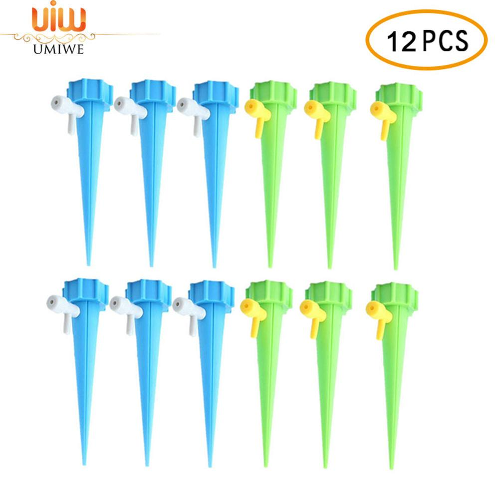 Umiwe Vacation Plant Waterer Plant Self Watering Spikes Plant Automatic Watering Devices Adjustable Water Volume Drip System By Umiwe.
