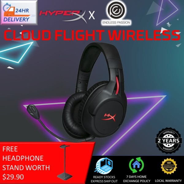 HyperX Cloud Flight Wireless Gaming Headset - Works with PC/PS4 [Free Headphone Stand + 24 hours delivery]