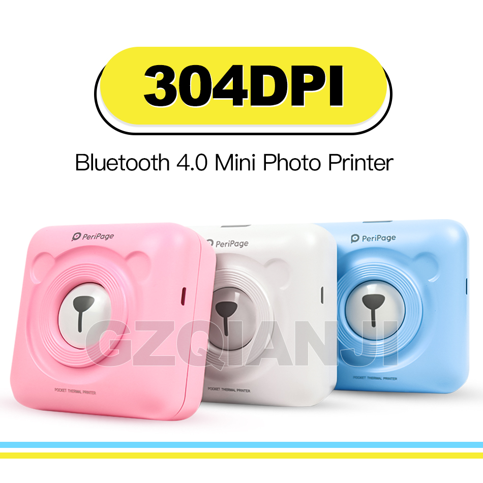 304 Dpi High Resolution Peripage Mini Photo Bluetooth Printer Pocket Photo Printer For Mobile Phone Android And Ios Gifts.