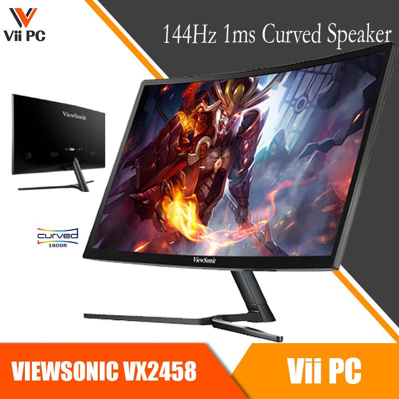 Viewsonic VX2458-C-MHD 24inch Full HD 144Hz 1ms Response Time AMD FreeSync™ Technology Curved Gaming Monitor DisplayPort/HDMI/DVI Built In Speaker VX2458 (3 Years Local On-Site Warranty)