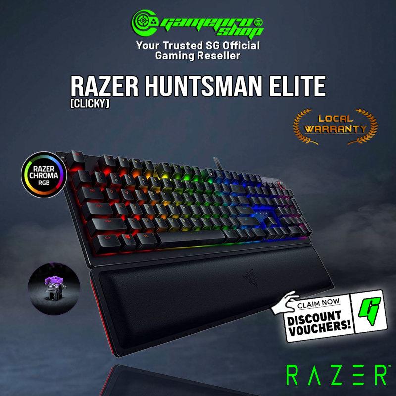 Razer Huntsman Elite OPTO Mech Gaming Keyboard Clicky / Linear (2Y) Singapore