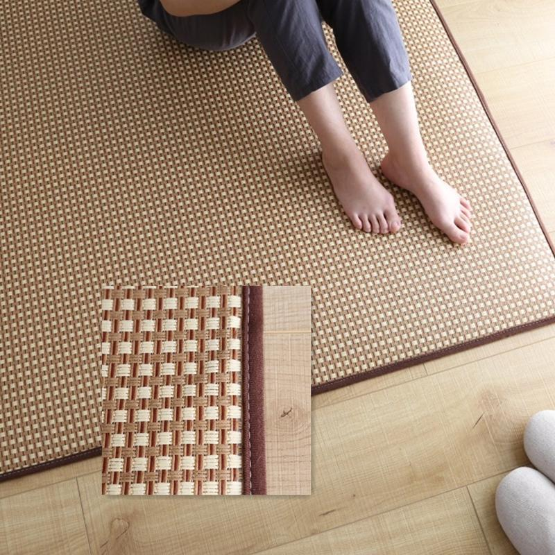 Rattan Summer Sleeping Mat Rug Simple Living Room Bedroom Makeshift Bed Tatami Mat Mattress Four Seasons Kids Play Mat Crawl Pad