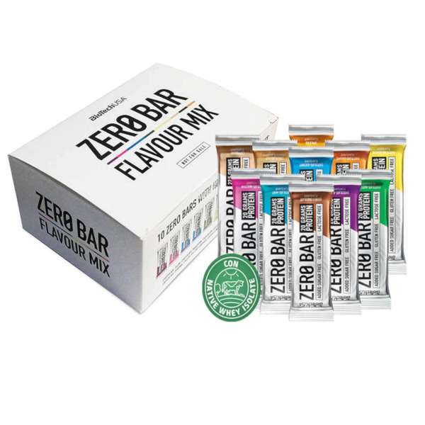 Buy [Box of 10] BiotechUSA: Zero Bar Flavour Mix (Protein Bar) Singapore