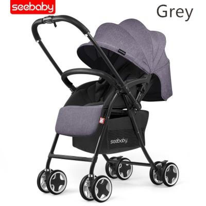 ★2018 new arrvial★ Authentic seebaby T09A lighter wider stroller/pram /one-second folding system/2way Singapore