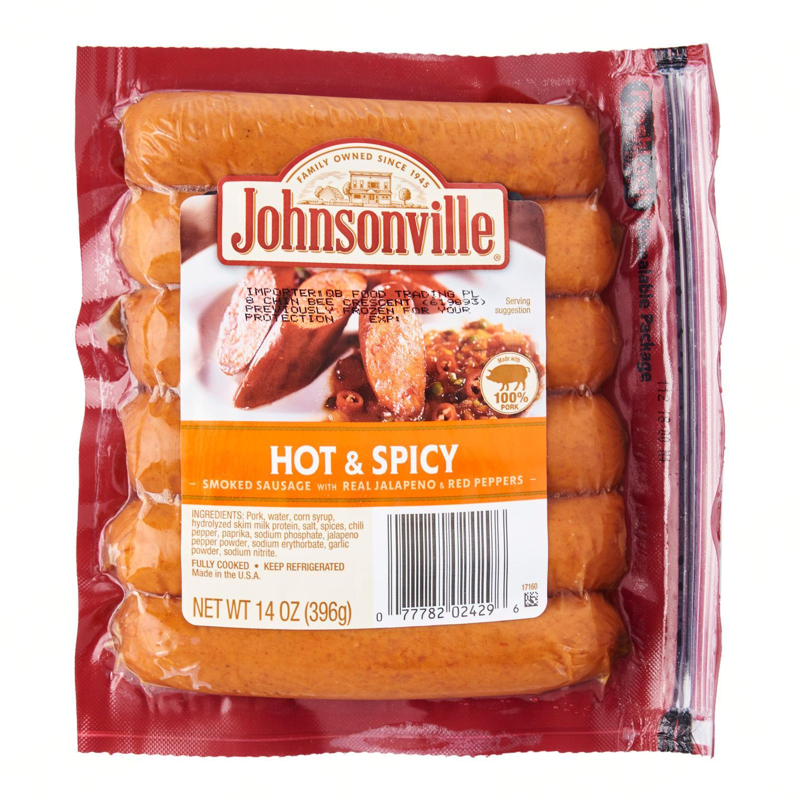 Johnsonville Hot and Spicy Sausages