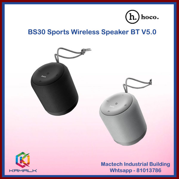 HOCO Latest BS30 BT V5.0 Sports Wireless Speaker Black & Grey - Local Delivery