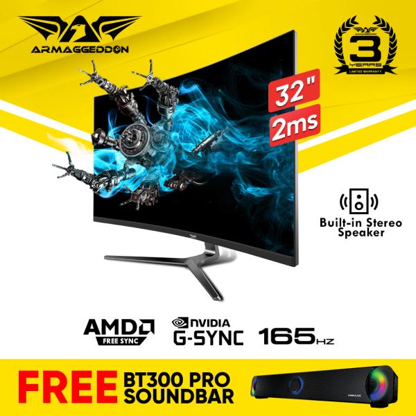 [FREE Soundbar] Armaggeddon Pixxel+ Xtreme XC32HD S (2020 Version) Curved Gaming Monitor 32″ 2ms 165Hz