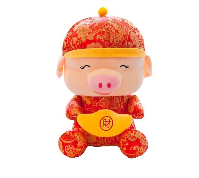 JIJI (2019 Gong Xi Fa Cai Plush Toy) / CNY Decoration / Plush Toy / Year of Pig / Chinese New Year / (SG)