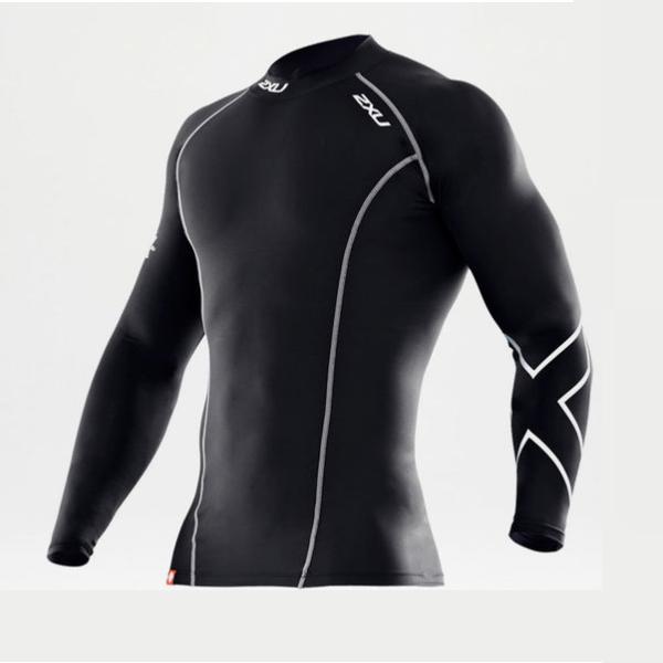 e7416a930d 2XU Men's Compression Long Sleeve Top (Black) MA1984A