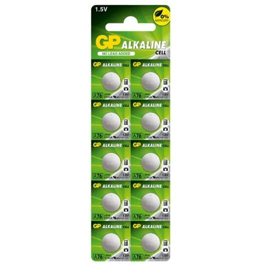 GP LR44 A76 V13GA Alkaline Cell 10 Pieces Pack