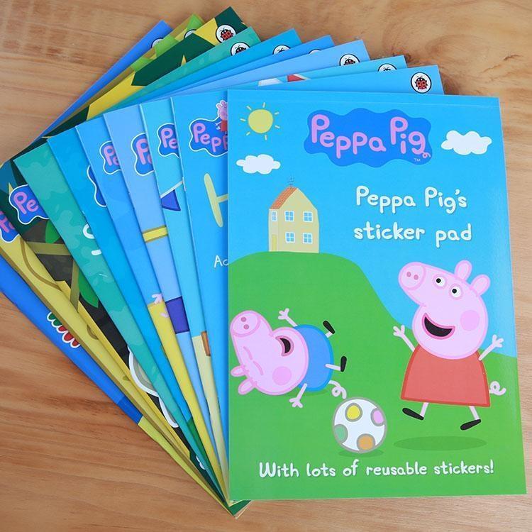 Peppa Pig Activity Book Sticker Book Big sized Book (10 books) c1