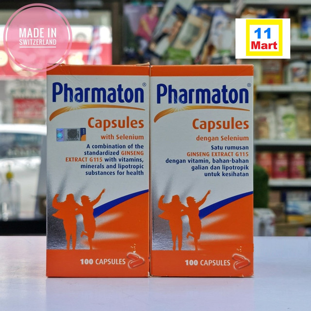 2 Bottles (100s) PHARMATON 补老多 WITH SELENIUM CAPSULES GINSENG EXTRACT MULTIVITAMINS 100'S+100'S