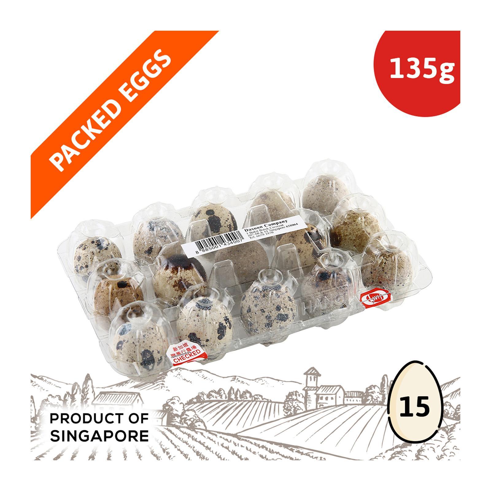 Dasoon Quail Eggs 15S (Keep Chilled)